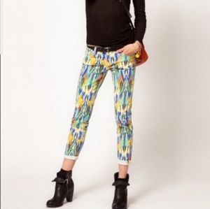 Current Elliot skinny jeans multicolor Southwest
